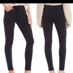Free People Riley Seamed High Rise Skinny Jeans